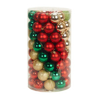 Traditional Holly Ornament Assortment (96)