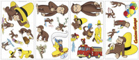 Curious George Peel & Stick Wall Decals