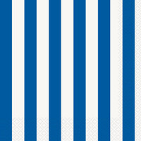 Royal Blue Stripe Lunch Napkins
