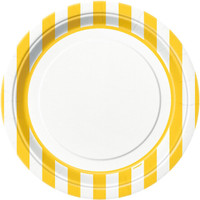 Yellow Stripe Dinner Plates