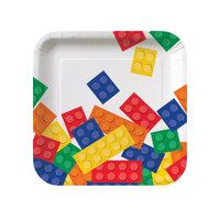 Building Block Party Square Dessert Plates