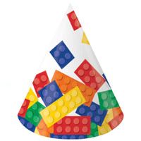 Building Block Party Cone Hats