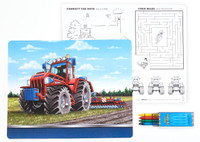 Farm Tractor Activity Placemat Kit