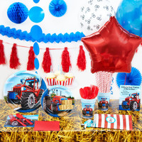 Farm Tractor Super Deluxe Party Pack