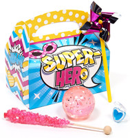 Superhero Girl Filled Party Favor Box (Set of 4)