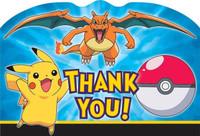 Pokemon Thank-You Note Postcards