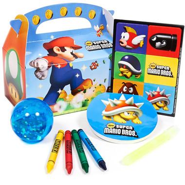 Super Mario Party Favor Boxes - (Set of 4)