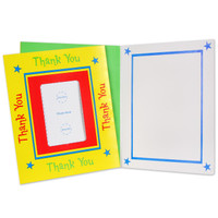 Yellow Photo-Enclosure Thank-You Notes
