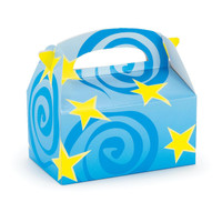 Blue with Yellow Stars Empty Favor Boxes