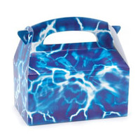 Blue Lightning Empty Favor Boxes