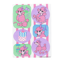 Pink Poodle in Paris Sticker Sheet
