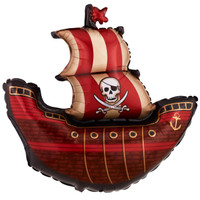 "Pirate Ship Shape 40"" Jumbo Foil Balloon"