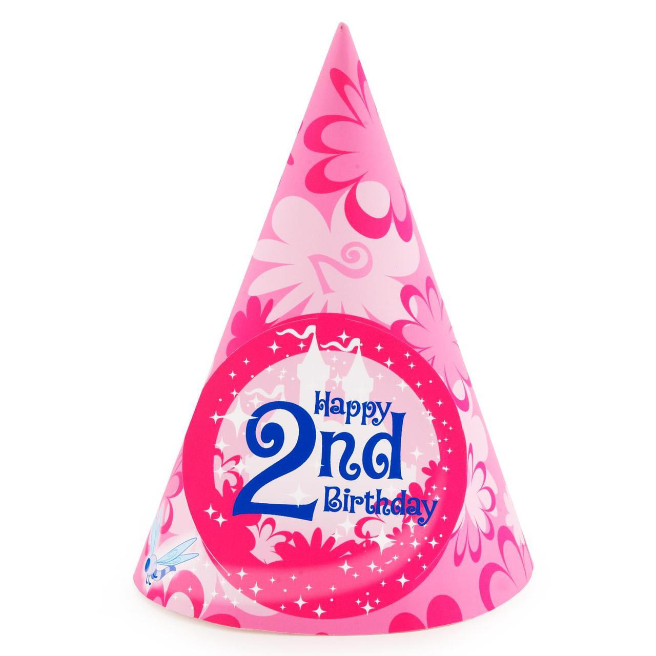 Enchanted Unicorn 2nd Birthday Cone Hats