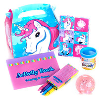 Enchanted Unicorn 2nd Birthday Party Favor Box (Set of 4)