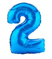 #2 Blue Shaped Foil Balloon