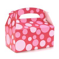 Red with Pink Dots Empty Favor Boxes