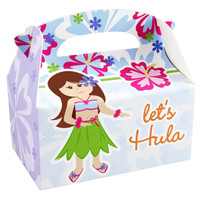 Hawaiian Girl Empty Favor Boxes