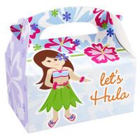 Hawaiian Girl Empty Favor Boxes