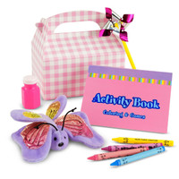 Hugs & Stitches Girl 1st Birthday Party Favor Box