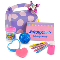 Girl's Lil' Cupcake 1st Birthday Party Favor Box