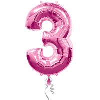#3 Pink Foil Balloon