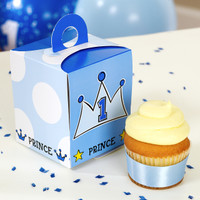 Lil' Prince 1st Cupcake Boxes
