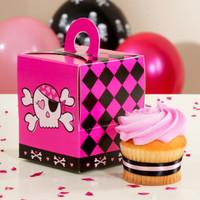 Pink Skull Cupcake Boxes