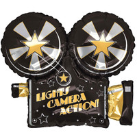 Lights, Camera, Action Foil Balloon
