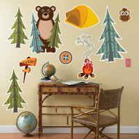 Let's Go Camping Giant Wall Decals