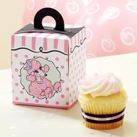 Pink Poodle Cupcake Boxes
