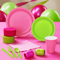 Lime Green & Hot Pink Standard Pack