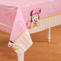 Disney Minnie's 1st Birthday Plastic Tablecover