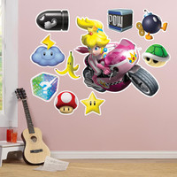 Mario Kart Wii Princess Peach Giant Wall Decal