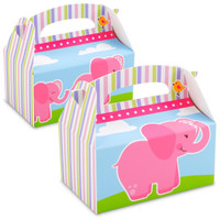 Pink Elephants Empty Favor Boxes