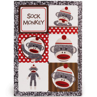 Sock Monkey Red Sticker Sheets
