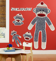Sock Monkey Red Giant Wall Decals