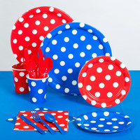 Red & Blue Polka Dot American Standard Pack