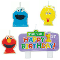 Sesame Street 1st +AC0- Molded Candle Set
