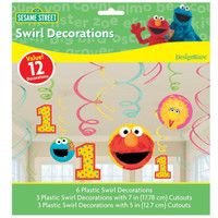 Sesame Street 1st - Swirl Decorations