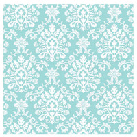 Robin's Egg Blue Brocade Jumbo Gift Wrap 16ft