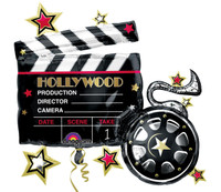 Hollywood Movie Clapboard Jumbo Foil Balloon