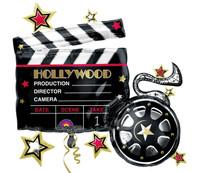 Hollywood Movie Clapboard Jumbo Foil Balloon