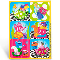 Topsy Turvy Tea Party Stickers