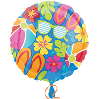 Summer Splash Luau Foil Balloon