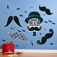 Little Man Mustache Giant Wall Decals