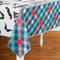 Little Man Mustache Plastic Tablecover