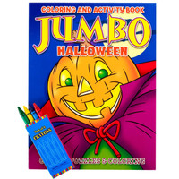 Halloween Jumbo Coloring Book with Crayons Set