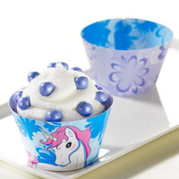 Enchanted Unicorn Reversible Cupcake Wrappers