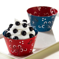 Bandana Reversible Cupcake Wrappers