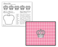 Elegant Princess Damask Activity Placemats